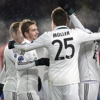 Bayern celebra vs. CSKA Moskva