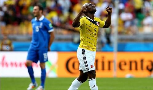 Pablo Armero tras anotar gol. Foto: FIFA.com
