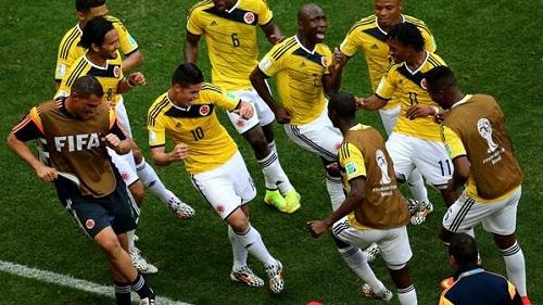 James Rodríguez celebra su gol con un baile. Foto: FIFA