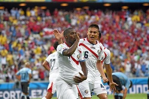 Joel Campbell celebra el gol del empate. Foto: Repretel