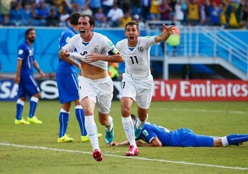 Diego GOdín celebra su gol. Foto: ESPNFC