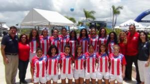 La Pre-Selección Nacional Femenina fue presentada en Bahia Urbana como parte de esfuerzos de la Federación de promover el programa de Selecciones Nacionales.