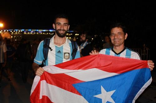 Gianfranco Alvarez-Dunn y Keyvan Heidary en el Mundial de Brasil 2014. Foto: Keyvan Heidary