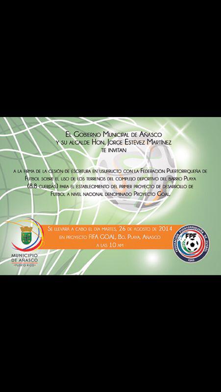 Invitación Oficial del Municipio de Añasco