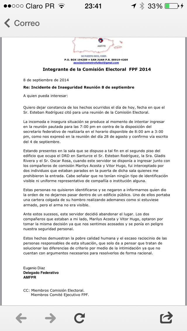 Carta Eugenio Díaz