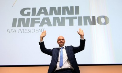 Gianni Infantino hoy tras ganar la presidencia. Por periódico The Guardian