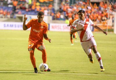 Jorge Rivera durante su debut en el XI inicial del Puerto Rico FC. Suministrada