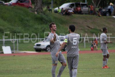 Acción del partido de vuelta ante el Guayama FC del PRFC. por Saul Rivera
