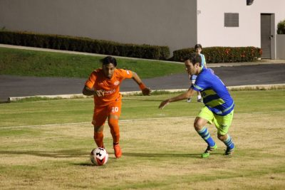 Jackie Marrero estuvo en el XI inicial del PRFC ante el Bayamón FC, saliendo como cambio en la segunda mitad. Por Saul Rivera.
