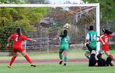 La juana del Colegio, Paola Goyco, conectó el gol de la victoria sobre las Jerezanas de la UPR de Río Piedras. (Z. Acosta LAI)