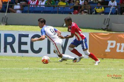 Marcos Martínez vistiendo la camiseta de la Selección Nacional. Suministrada