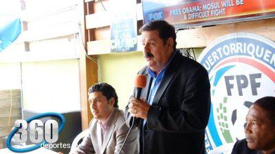 Rodríguez Argote (izquierda) durante presentación de la Copa Luis Villarejo. Foto Deportes 360 TV