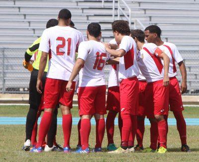 Caguas Sporting en partido ante el FC Mayaguez de la jornada 6ta. Suministrada
