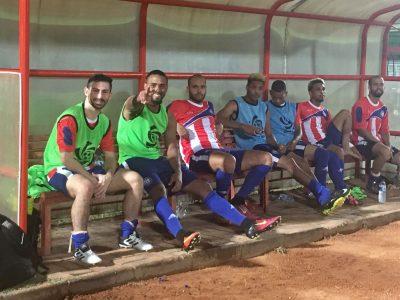 Parte de la Selección Nacional de Fútbol de Puerto Rico en partido amistoso ante el Protaba FC. Suminsitrada
